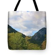 Eagle Cliff Seen Froom Boise Rock In Franconia Notch Tote Bag