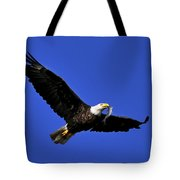 Eagle Fish In Mouth Tote Bag