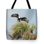 Eagle In The Palm Tote Bag