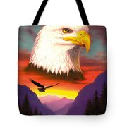 Eagle Tote Bag by MGL Studio - Chris Hiett