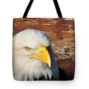 Eagle On Brick Tote Bag