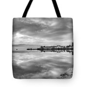 Early Morning At Inverary Black And White Version Tote Bag