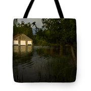 Early Morning Clam Lake Channel Tote Bag
