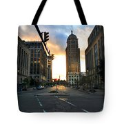 Early Morning Court Street Tote Bag
