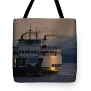 Early Morning Ferry Leaves Seattle Tote Bag