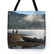 Early Morning Fishing On Scotts Flat Lake Tote Bag