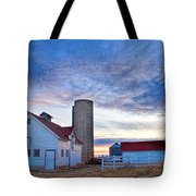 Early Morning On The Farm Tote Bag