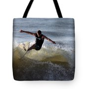 Early Morning Surfing Tote Bag