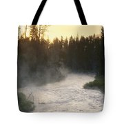 Early Morning View Of Crescent Creek Tote Bag