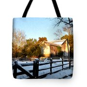 Early Snow Day Tote Bag