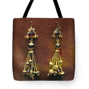 Earrings With Garnets Tote Bag