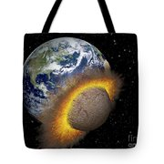 Earth Colliding With A Mars-sized Tote Bag