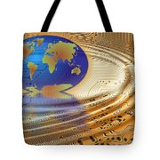 Earth In The Printed Circuit Tote Bag