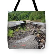 Earth Opening Road Closing Tote Bag