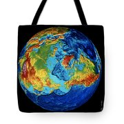 Earth: Topography Tote Bag