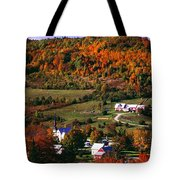 East Orange Village In Fall, Vermont Tote Bag