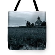East Point Light Before The Storm  Tote Bag