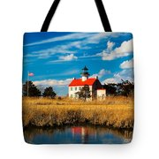 East Point Lighthouse Reflection Tote Bag
