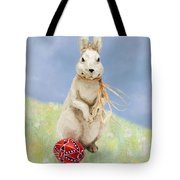 Easter Bunny With A Painted Egg Tote Bag