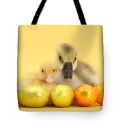 Easter Duckling And Gosling Tote Bag