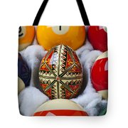 Easter Egg Among Pool Balls Tote Bag