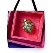 Easter Egg In Pink Box Tote Bag