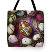 Easter Egg With Wreath Tote Bag