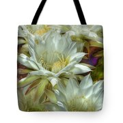 Easter Lily Cactus Bouquet Hdr Tote Bag