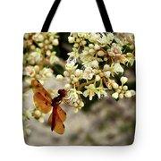 Eastern Amberwing On Wild Buckwheat Tote Bag