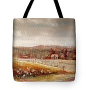 Eastern Townships Quebec Painting Tote Bag by Carole Spandau
