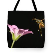 Eastern Yellow Jacket Wasp In Flight Tote Bag