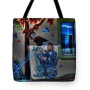 Easy Rider Mural Route 66 Tote Bag