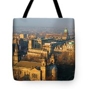 Edinburgh On A Winter's Day Tote Bag by Christine Till