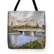 Edmonton Skyline Tote Bag