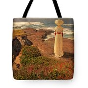 Edwardian Lady By The Sea Tote Bag