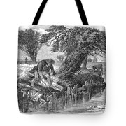 Eel Fishing, 1850 Tote Bag