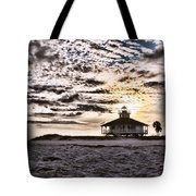 Eerie Lighthouse Tote Bag