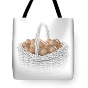 Eggs In A Woven Basket No.0064 Tote Bag