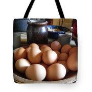 Eggs On The Table Tote Bag