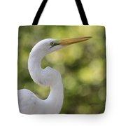 Egret Alphabet Tote Bag
