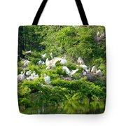Egret Estuary Tote Bag