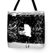 Egret In Flight V5 Tote Bag