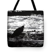 Egret Silhouette  Tote Bag