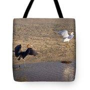 Egret Territory Tote Bag