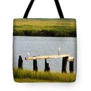 Egrets In The Salt Marsh Tote Bag