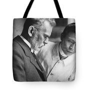 Ehrlich And Hata, Discovered Syphilis Tote Bag
