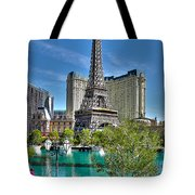 Eiffel Tower And Reflecting Pond Tote Bag