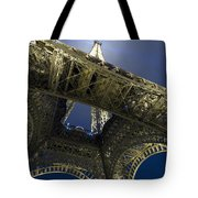 Eiffel Tower At Night,directly Below Tote Bag