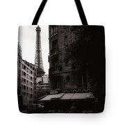 Eiffel Tower Black And White 2 Tote Bag