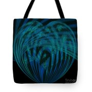 Electric Blue Heart Tote Bag